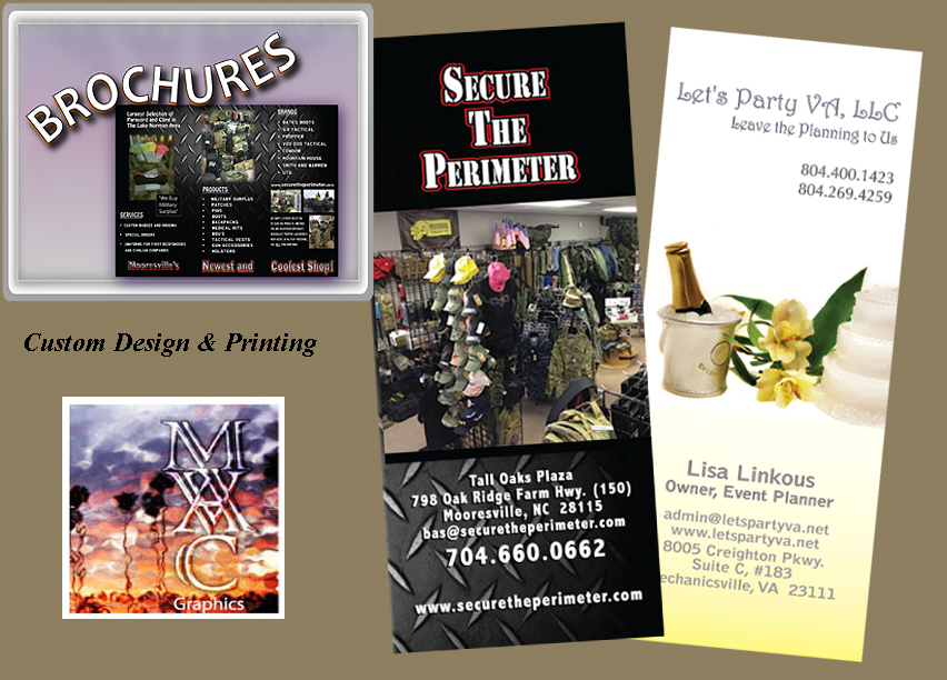 Tri-fold brochure design and printing