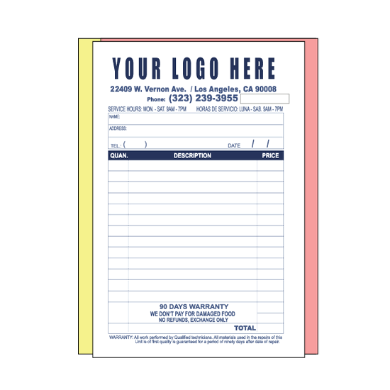custom invoice design for your business